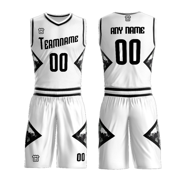 Design Your Own Basketball Wear Sublimated Black And White Game Basketball Jersey Clothing