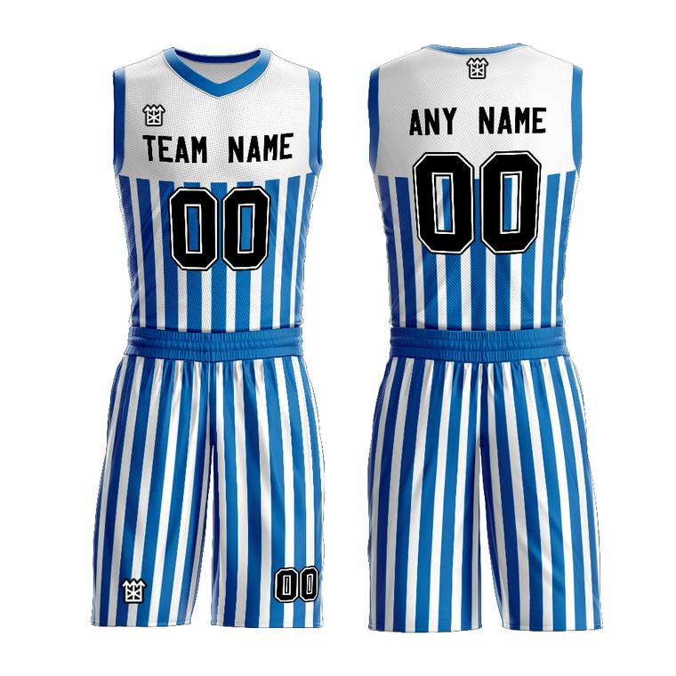 Custom Team Sublimation Striped Basketball Uniform Design Youth Traning Jersey Wear