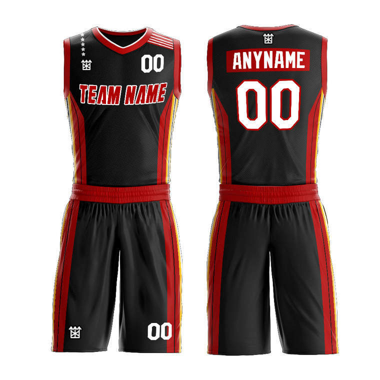 Customized College Student Basketball Team Uniform With Logo Name And Number