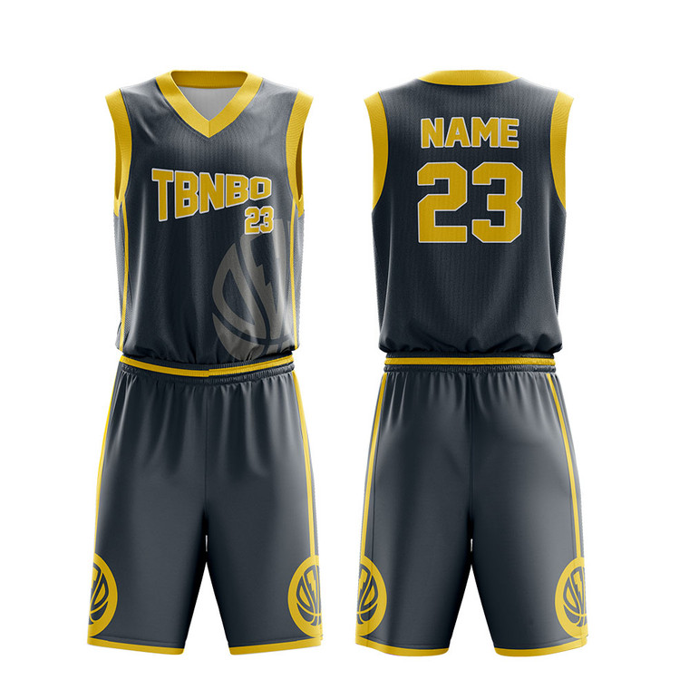 Custom Your Own Team Uniform Sublimated Men Black Basketball Jersey