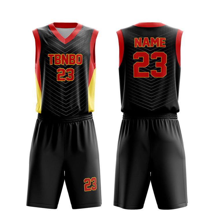 Men Basketball Jersey Design Color Black Stripes Basketball Team Wear