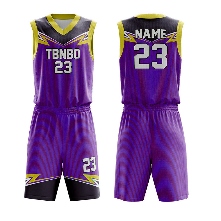 Sublimated Printing 100% Polyester Comfortable Basketball Wear For HIgh School Teams