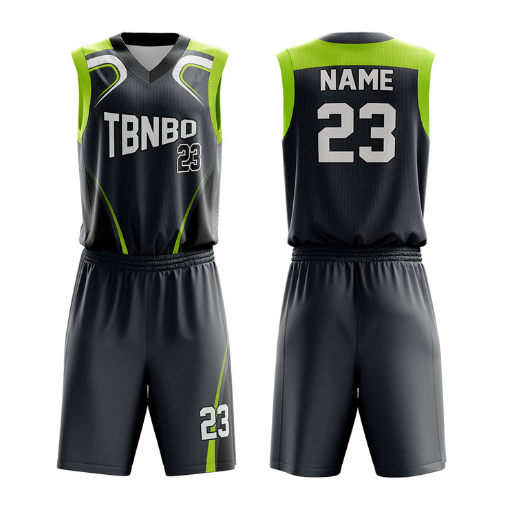 Youth Basketball Team Uniforms Sublimation Digital Printing Basketball Jerseys
