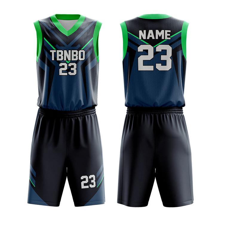 Simple Stripes Jerseys Design Customized Logo Name Number Men Basketball Uniforms