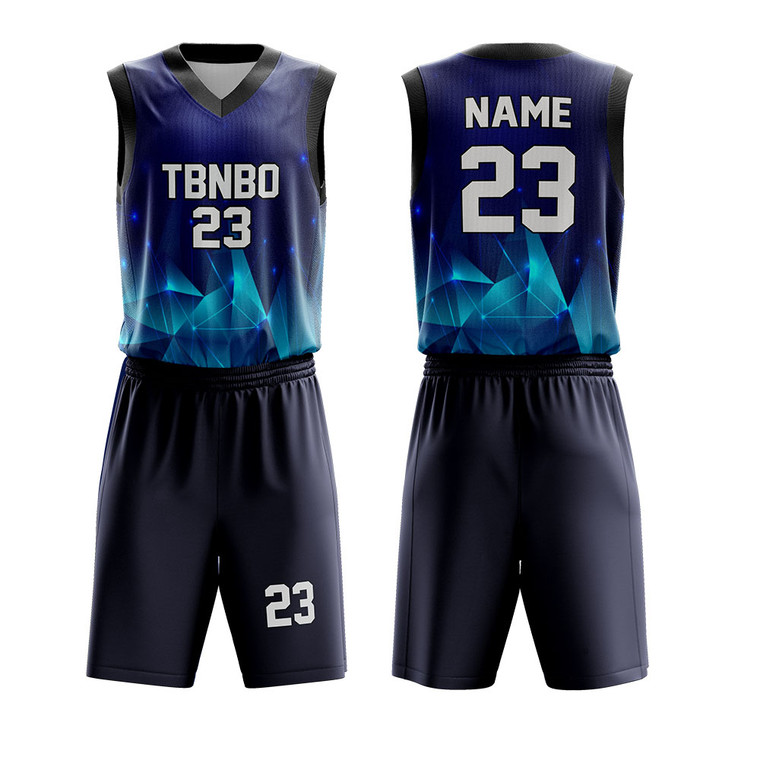 Personalize Diamond Pattern Design Sublimated Printed Team Basketball Uniforms For Sale