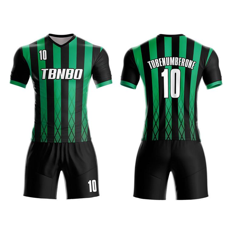 Football Training Jerseys Sublimation Printing Men's Stripes Soccer Uniform Wear