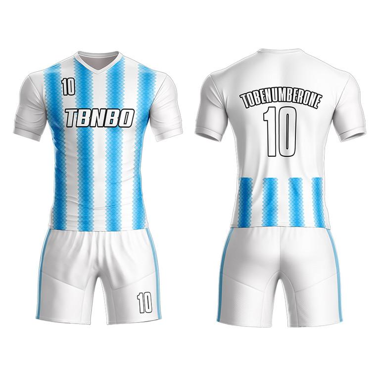 Cool Striped Soccer Uniform Design Football Practice Jerseys For Team