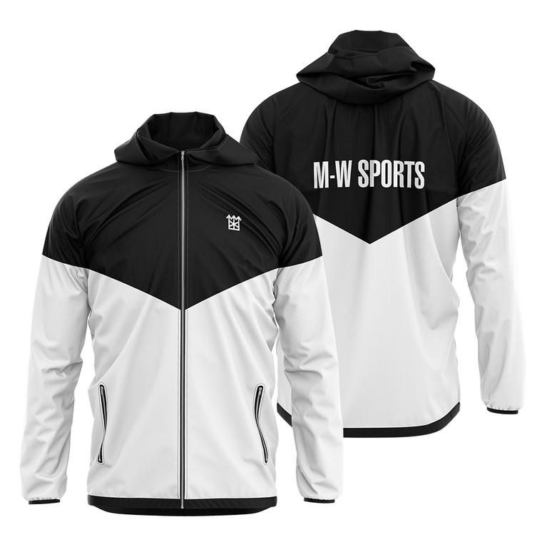 OEM Customized Sublimation Printing Sportswear Full Zipper Up Outdoor Jacket Men's Hooded Windbreaker