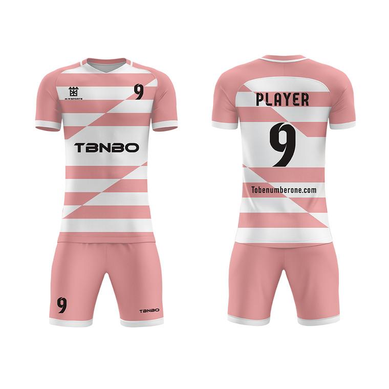 Football Training Shirts Design Sublimation Digital Printing Men's Stripe Soccer Team Jersey Wear