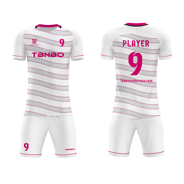 Design Your Own Football Jersey Kits Custom Sublimated Wave Stripes Mens Soccer Jerseys
