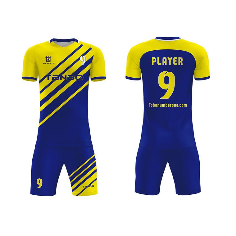 High Quality Sportswear Football Wear Custom Fashion Design Sublimated Breathable Soccer Jersey Uniform