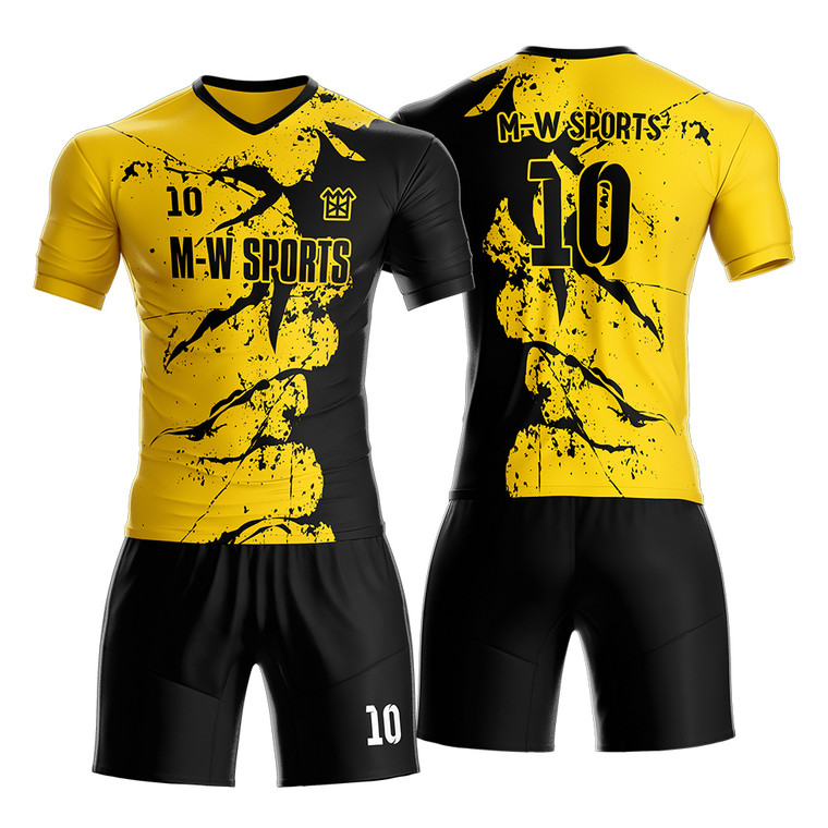 Splash Pattern Cool Football Uniform Design Custom Sublimation Digital Printing Sportswear Soccer Jerseys