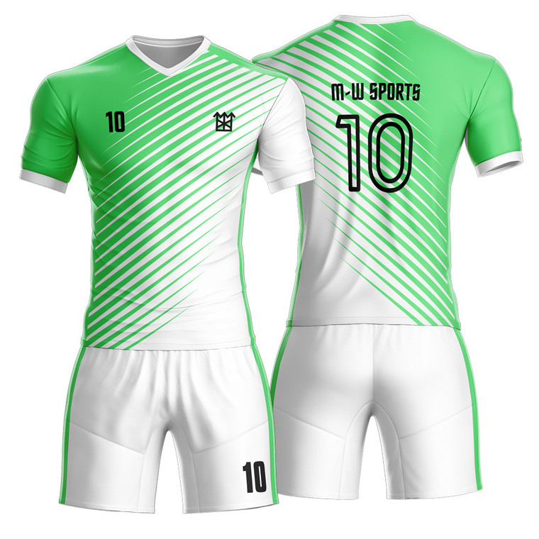 New Season Sportswear  Customise Striped Football Shirts Soccer Jerseys Kit For Player Practice And Gaming
