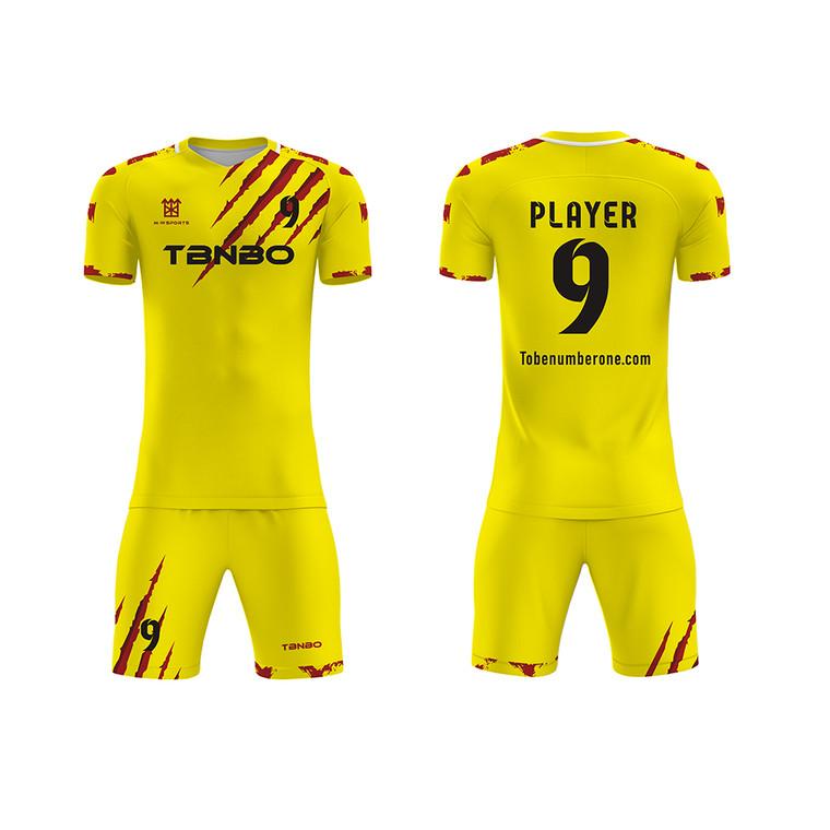 New Season High Quality Custom Logo Football Team Sports Jerseys Sublimated Printing Striped Soccer Uniforms