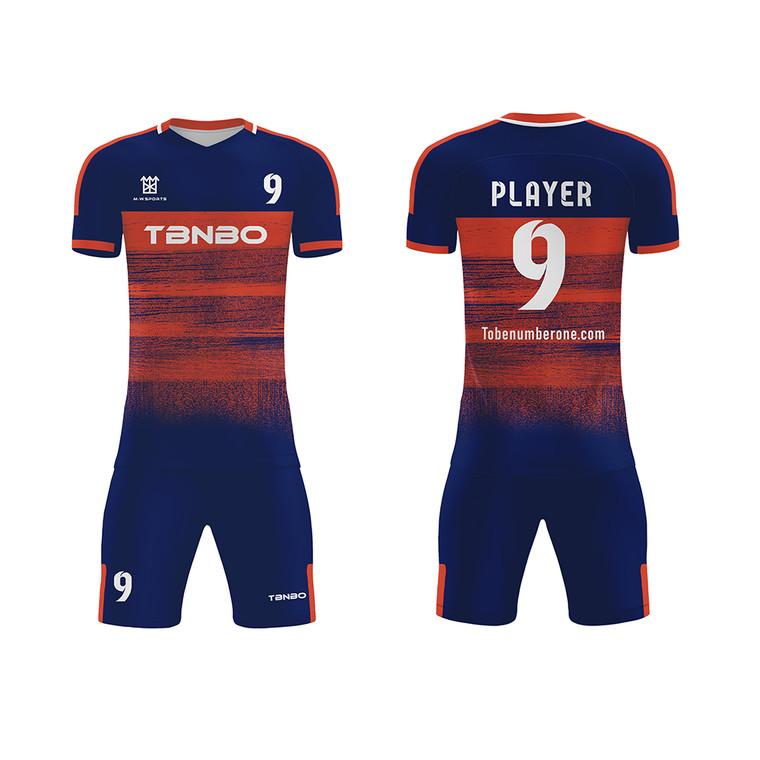 Hot Sale Breathable Soccer Uniform Set Sublimation Football Training Jerseys Kits