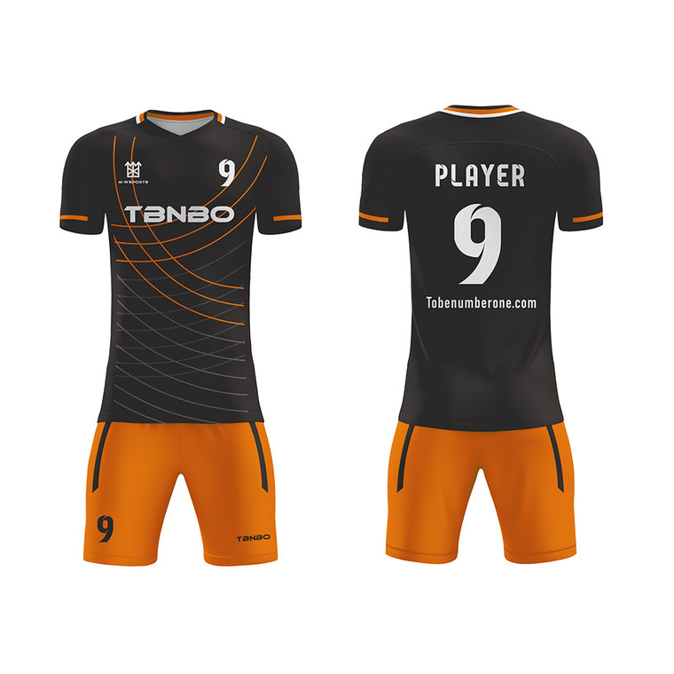 Sports Jersey Wholesale 100% Polyester Custom Logo Sublimated Soccer Jersey Set Uniform