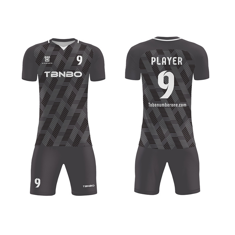Latest Design Factory Customized V-collar Soccer Jersey For Team Game