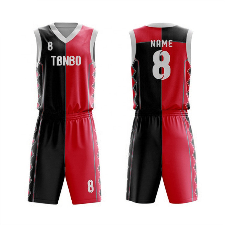 China Supplier 100% Polyester Adult's Basketball Jerseys Blank Two Tone Basketball Sportswear