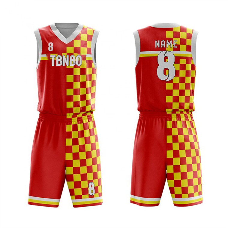 Manufacturer New Model Dye Sublimation Basketball Uniform Custom With Your Own Design Basketball Jersey