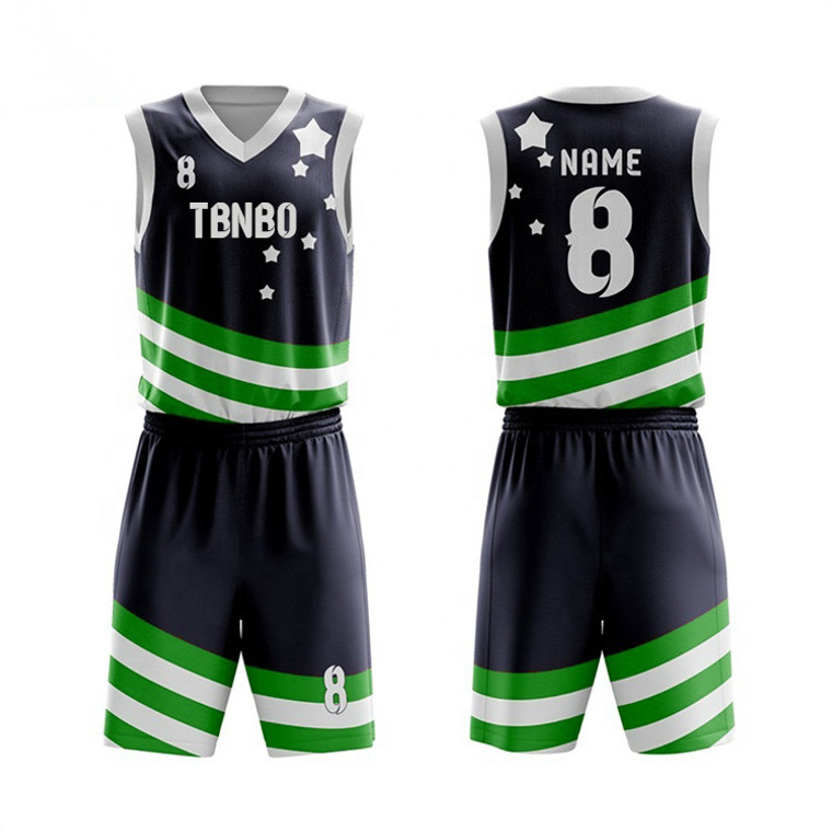 Hot Sale Latest 3d Basketball Uniforms Sublimation Set Custom Tops Youth Basketball Jersey