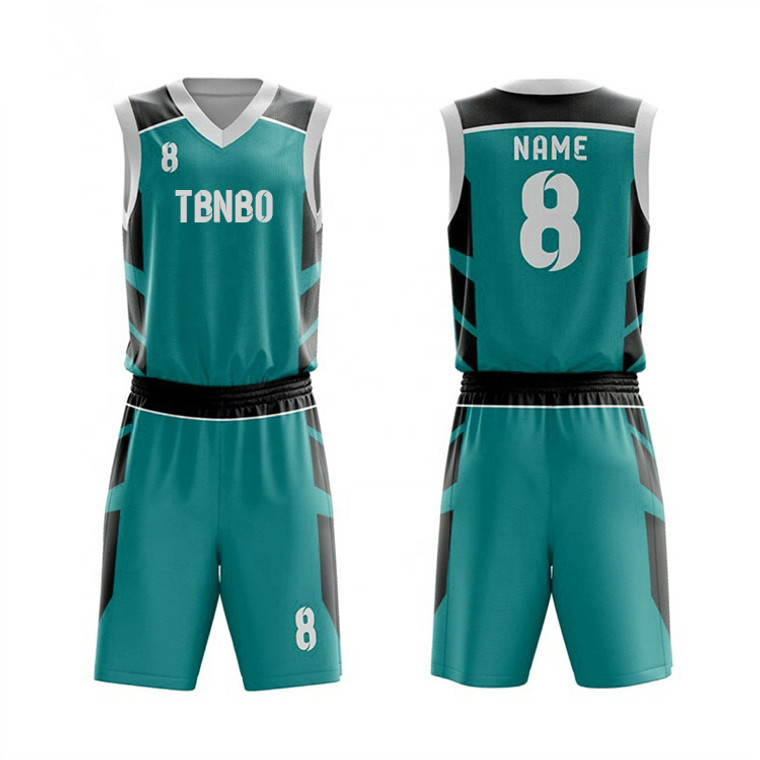 Custom Team Logo Design Breathable Quick Dry Sublimated Basketball Jersey