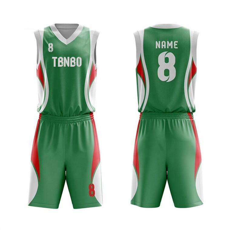 New Style Made Men V Neck Polyester Sublimated Basketball Jerseys