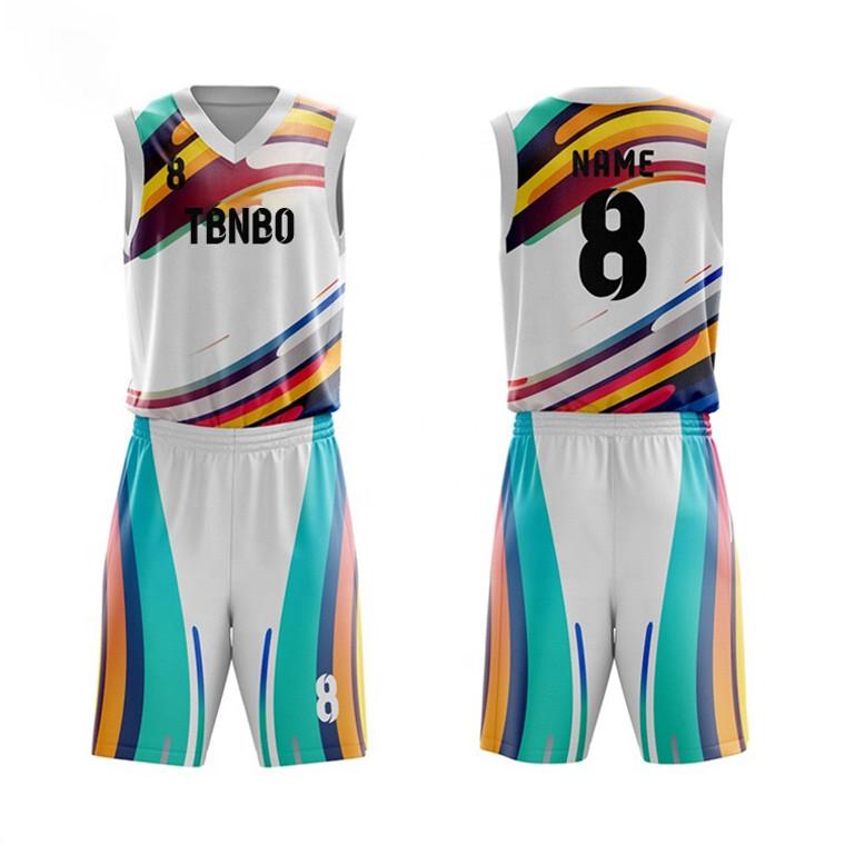 Team Wear Training Basketball Uniform Best Selling Basketball Uniform In High Quality Custom Multi Color Basketball Uniform