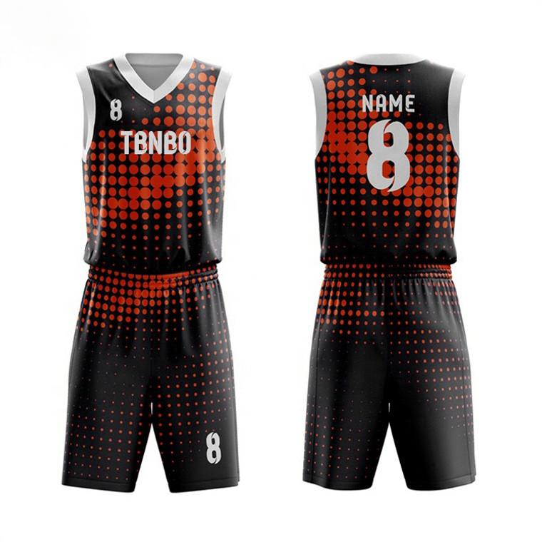 Custom Unique Design Dot Pattern High End Quality Cheap Sublimation Quick Dry Basketball Jersey Uniform