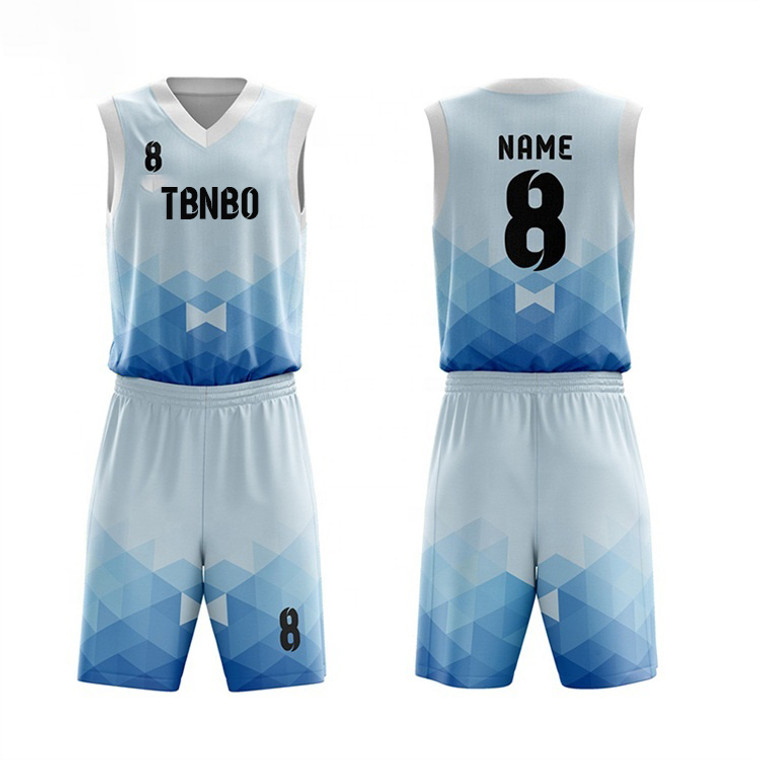 New Arrival Design Diamond Stack Pattern Basketball Wear Sublimation Men's Basketball Jerseys For Gaming And Training
