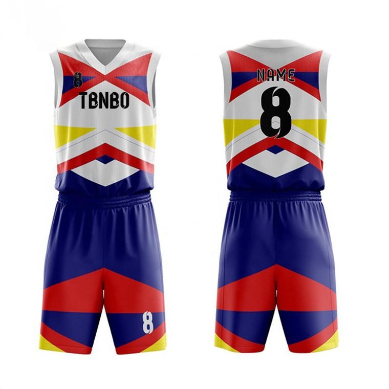 Custom Your Own Team Basketball Uniforms Mens Sublimation Printed Baskeball Sportswear Clothing