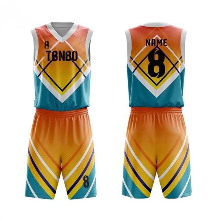 Custom Wholesale Cool Basketball Team Jersey Sublimation Printing Youth Basketball Uniforms
