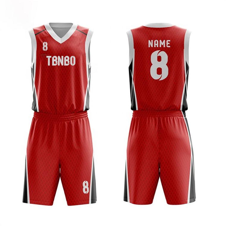 Personalized Design Diamond Mesh Pattern Polyester Sublimation Printing Men's Basketball Uniforms
