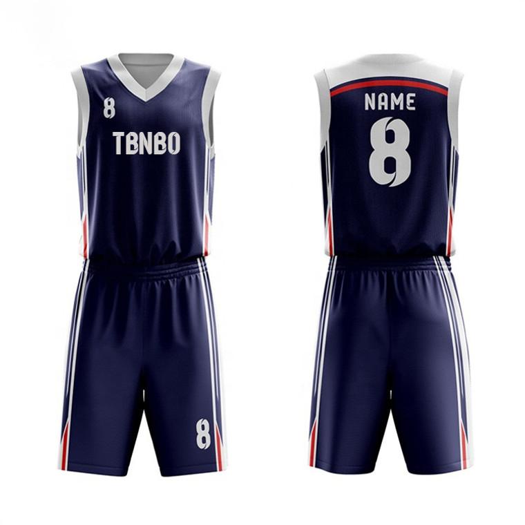 New Style Fashion Design Custom Basketball Uniform Sublimation Team Basketball Jersey Wear