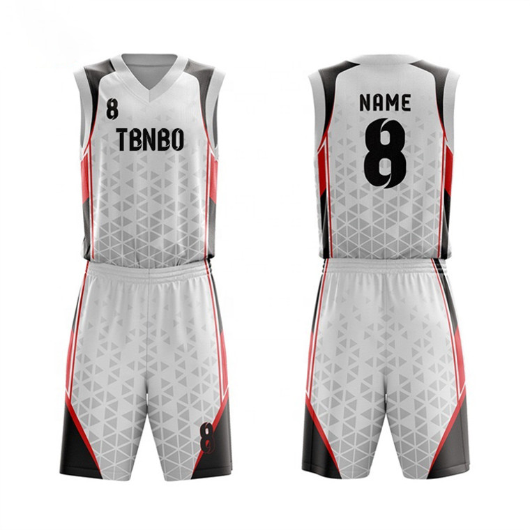 Sports Wear Team Name And Number Sublimation Printing Basketball Jerseys