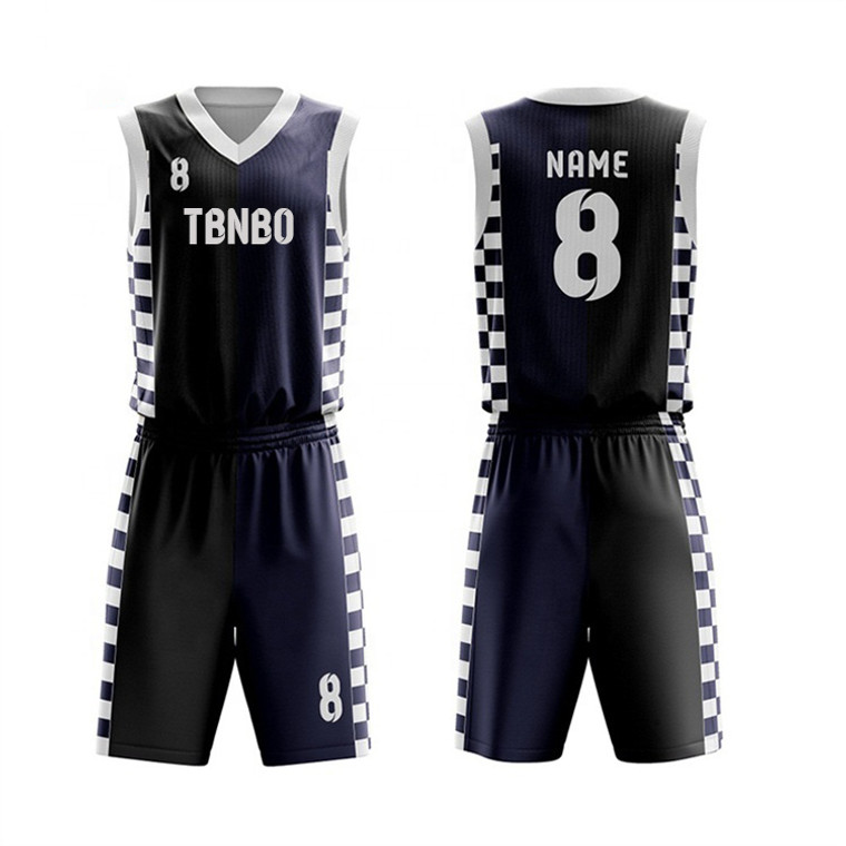 Two Tone Basketball Jersey Design With Logo Name Number Men's Training Basketball Uniforms For Sale