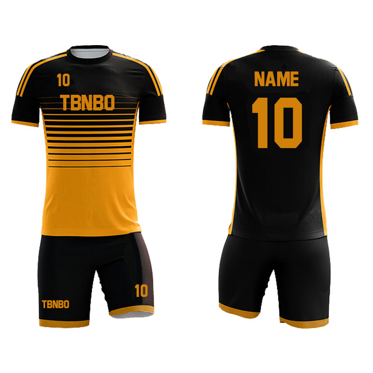 Team Football Jersey High Quality Custom Sublimated Stripes Soccer Jersey