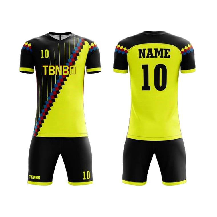 100% Polyester Custom Hot Football Jersey Sports Soccer Uniforms Custom Soccer Jersey