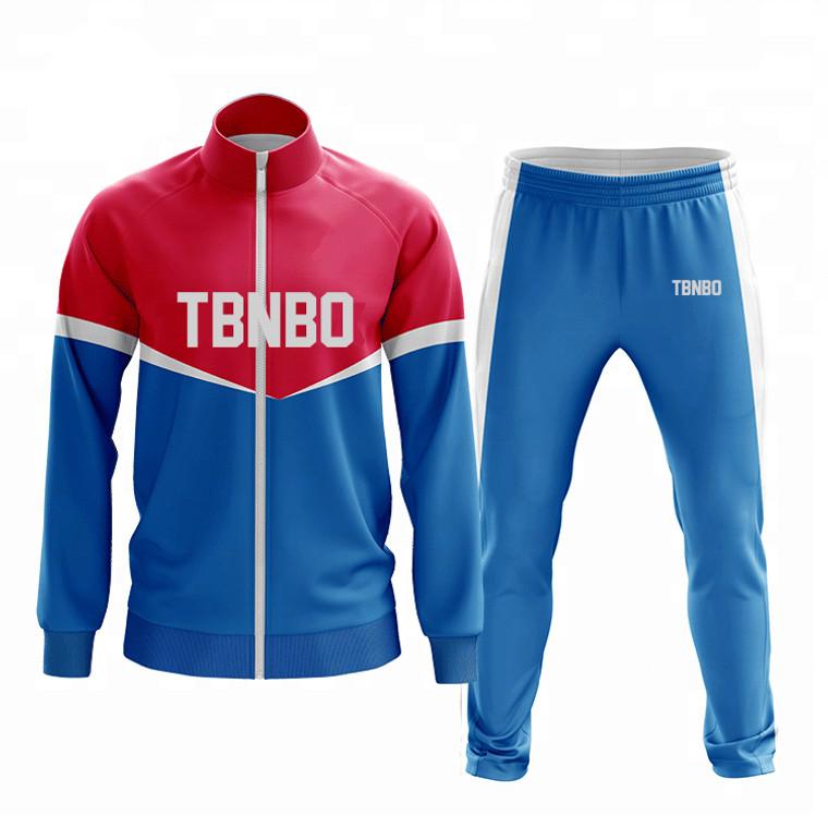 OEM Service Soccer Tracksuit High Quality Men 100% Polyester Sport Tracksuit Jogging Suit