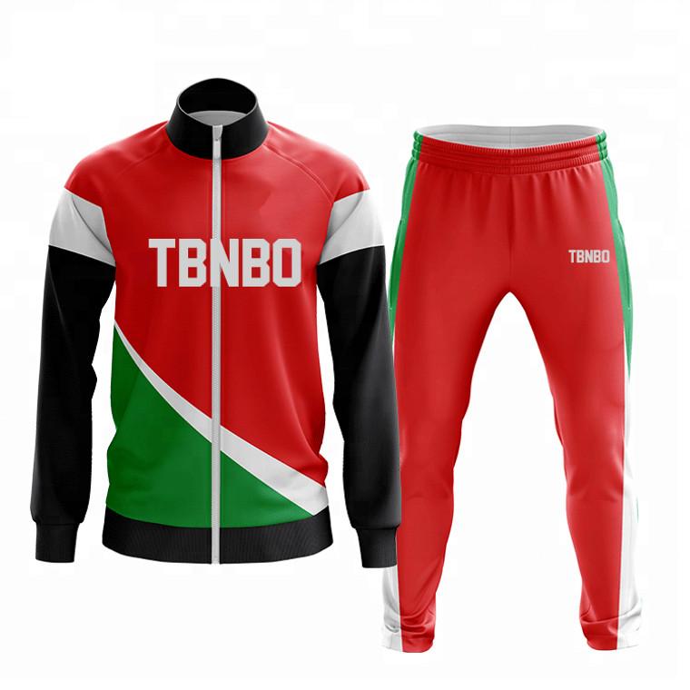 Custom Sublimation Men Sweatsuit Jogging Suits Long Zipper Running Wear Custom Mens Tracksuit
