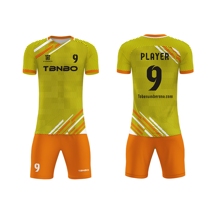 Dye Sublimation Custom Printing Stripes Soccer Jerseys sportswearTeam Training Football Sports Wear