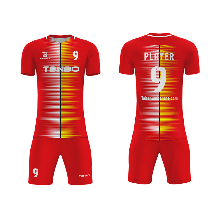 Create Personalized Sublimation Printing Breathable Soccer Team Jerseys With Logo Name Number