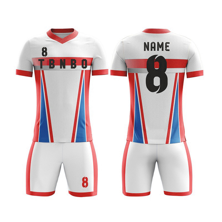 Soccer Uniform Kit Shirts And Shorts Customized With Logo Name And Number