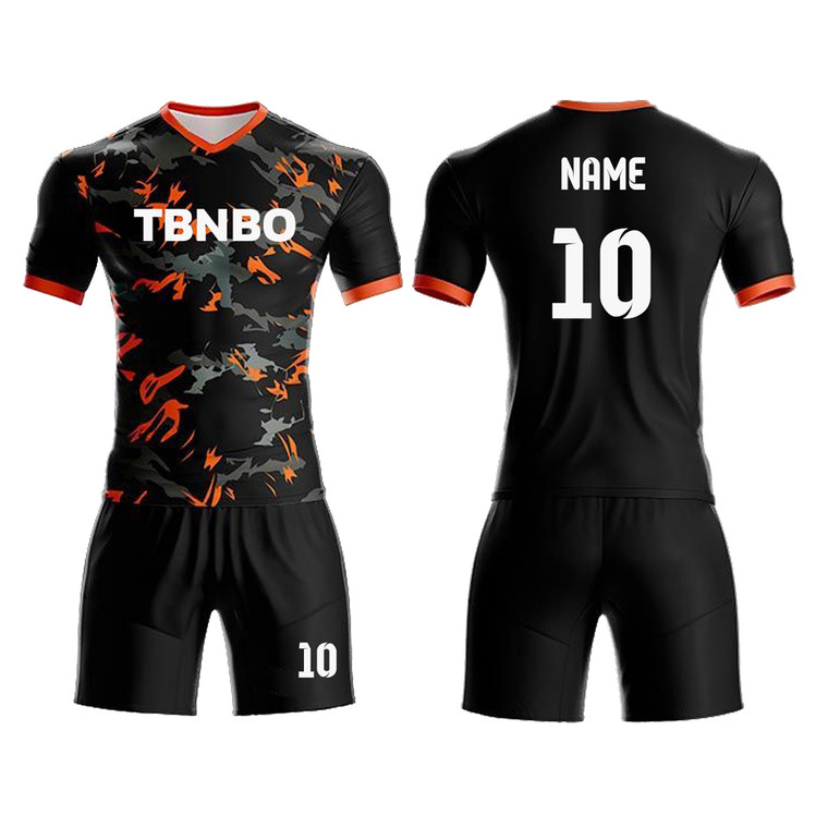 Customized Cool Camo Soccer Uniform Design Team Training Shirts Shorts Jerseys Kits