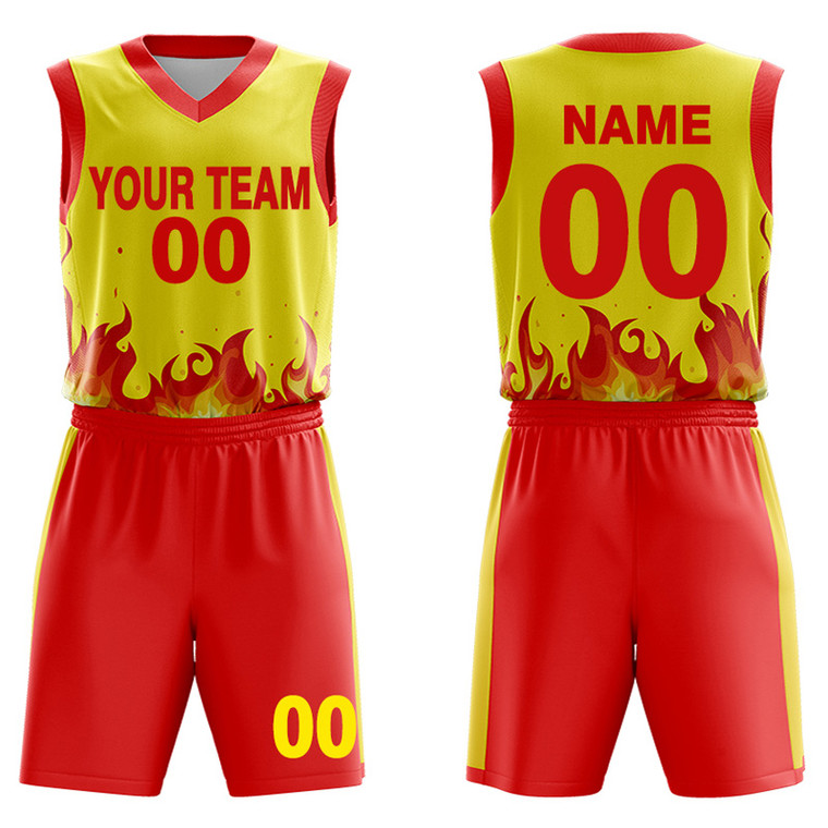 custom basketball uniforms Flame design concept Create your own uniform with Team Names, Numbers,logo