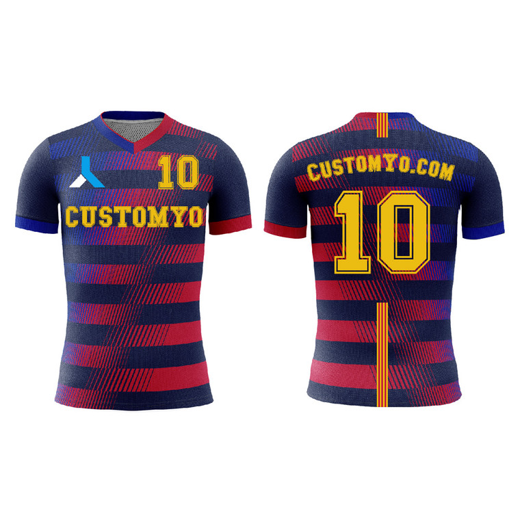Custom Men/kids Soccer shirts Input Your Team Name , logo and player name