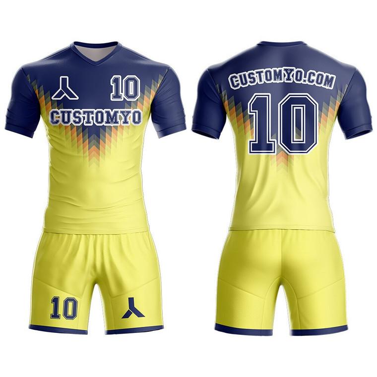 Custom Any Name & Number logo culb Team's Away Soccer Jersey&Short