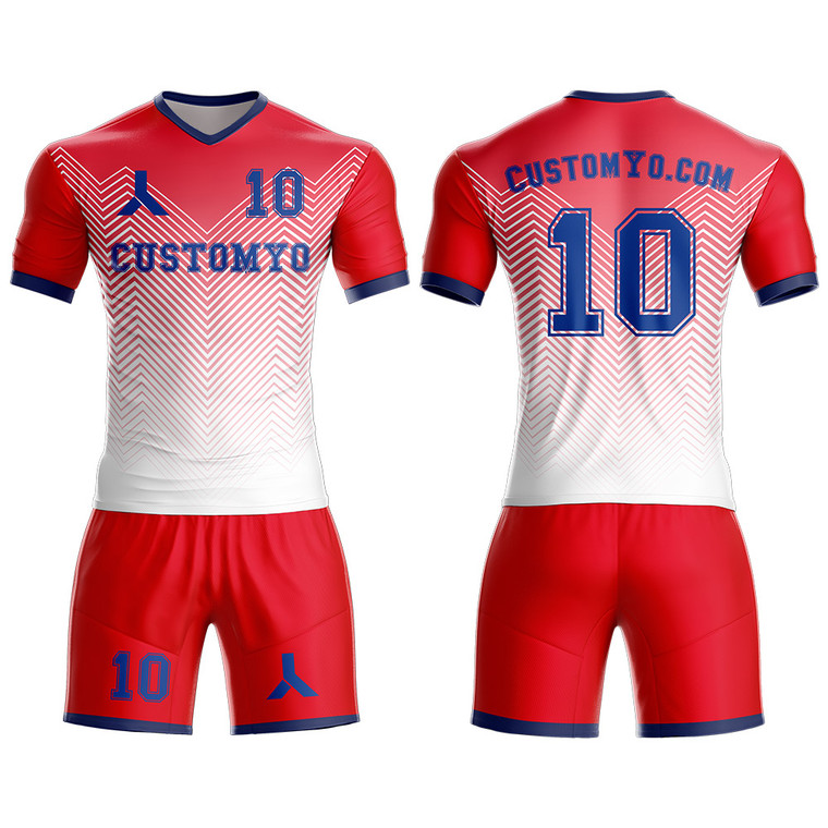 Cheap Custom Soccer Jersey & Shorts Club Team (Home and Away) Personalized Soccer Jersey Kits for Adult Youth add Any Name and Number Custom Football Jersey
