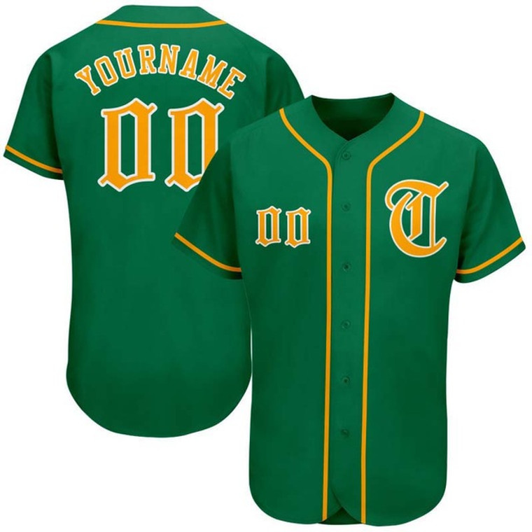 Custom Green Baseball team Jersey for Men/women/youth/kids Full Button Full Sublimation Uniform add with Team Name & Numbers