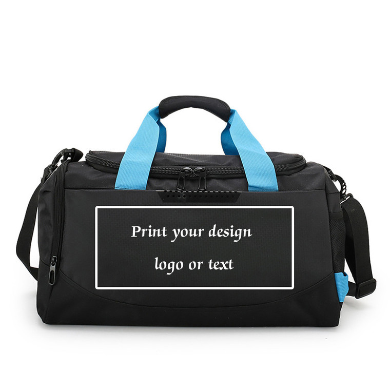Customize Sport Bags with Your Logo Dry and Wet Pocket Waterproof Fabric Bags Custom Sports Duffels for Team Gym Club