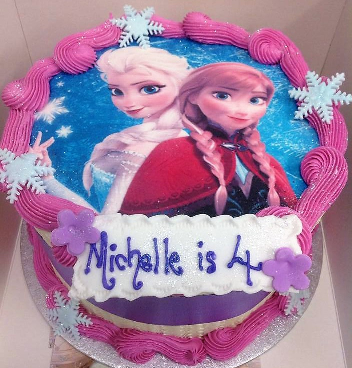 Terrific Frozen Birthday Cake For Girls Aberdeen Personalised Birthday Cards Paralily Jamesorg